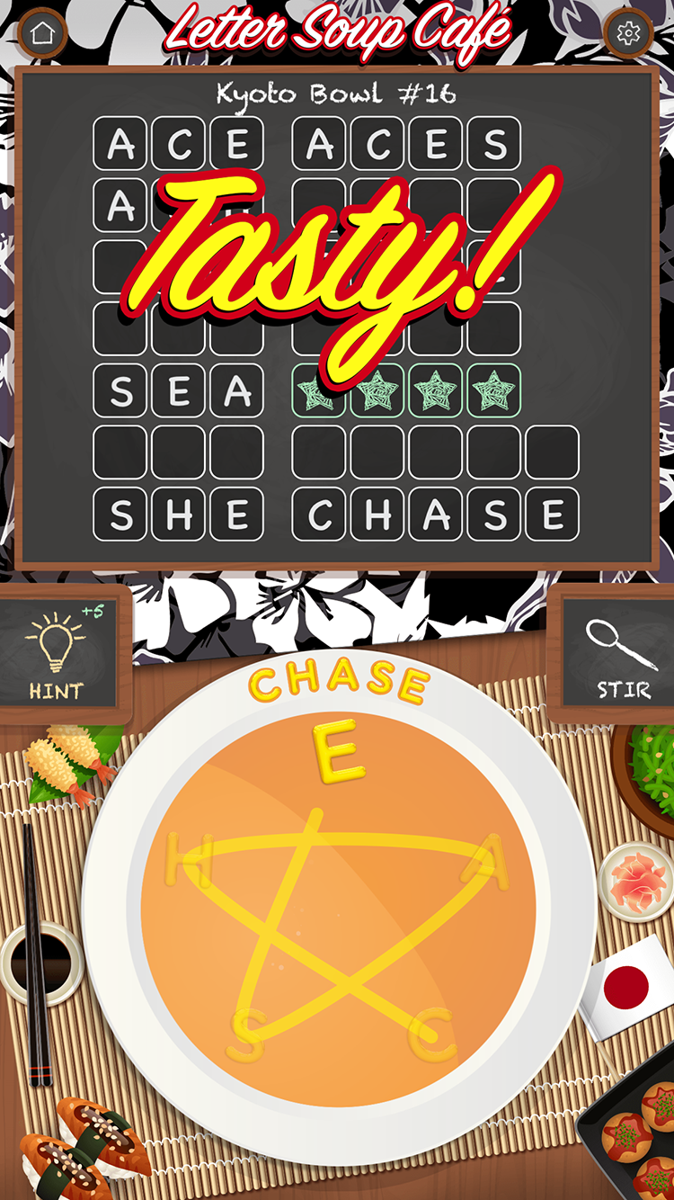 Letter soup cafe is the freshest and tastiest new word game for ios screenshot 4 expocarfo Image collections